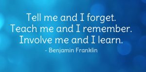 Benjamin Franklin Learning by doing